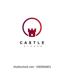 Castle Logo, Real Estate Logo Design