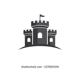 Castle Logo Template, Icon, Symbol - Vector