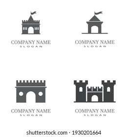 Castle Logo Template vector symbol  icon design