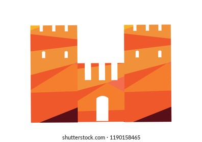 castle on the white background