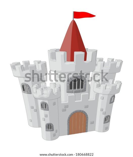 Castle -  Vector Artwork (isolated on white background).