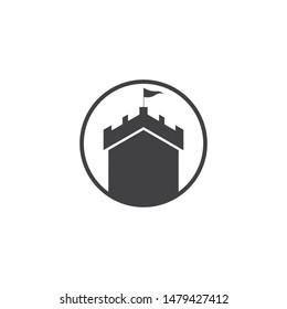 Castle vector illustration icon Logo Template design