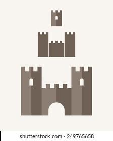 Castle. Vintage. Icon set