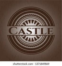 Castle wooden emblem