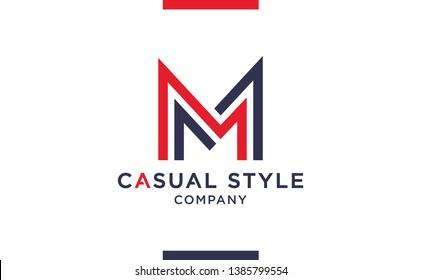 Casual and elegant Vector M Logo for corporate identities. Minimal Logotype design for premium company branding.