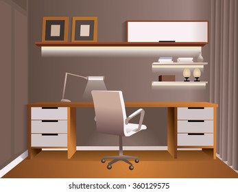 Casual office for for pleasant and comfortable work