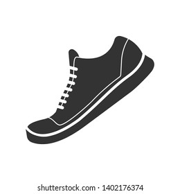 Casual Shoes Icon. Footwear Illustration As A Simple Vector, Trendy Sign & Symbol for Design and Websites, Presentation or Application.