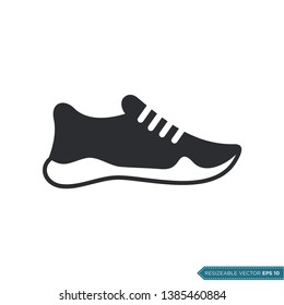 Casual Sporty Shoe Icon Vector Template Flat Design