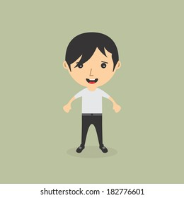 casual style guy cartoon character