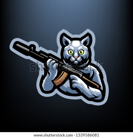 Cat with AK 47