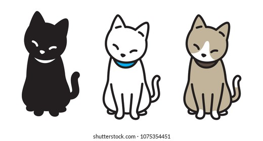 cat breed vector illustration kitten calico character Halloween doodle cartoon