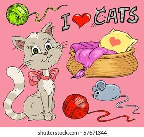 Cat - Cartoon Clip-Art Collection
