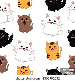 Cat. Cartoon style. Bright. Character. For your design. Animals
