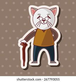 cat cartoon theme elements