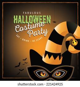 Cat costume Halloween party design EPS 10 vector
