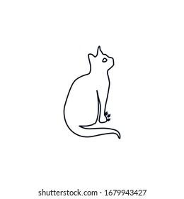 Cat, creative cat icon vector design