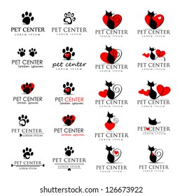 Cat And Dog Icons - Isolated On White Background - Vector Illustration, Graphic Design Editable For Your Design