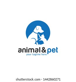 Cat and Dog Logo Design Template