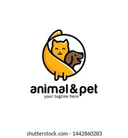 Cat and Dog Logo Design Template