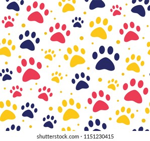 cat or dog paw patterns. backgrounds for pet shop websites and prints. Animal footprint
