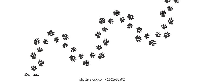 cat or dog paw print icon