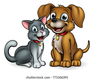 Cat Dog Cartoon Images Stock Photos Vectors Shutterstock