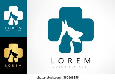 cat and dog - symbol veterinary clinic