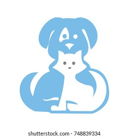 cat and dog,logo,vector,