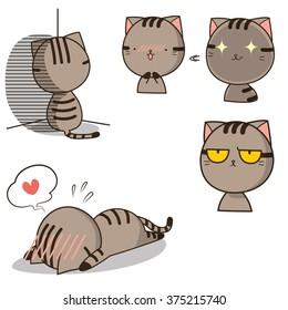cat emoticon vector