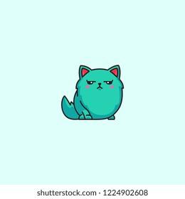 Cat emoticons bad mood