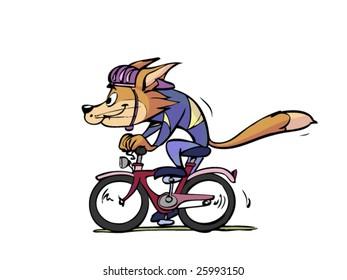 cat enjoying cycling