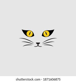 cat eye logo design icon
