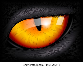 Cat eye. Realistic 3D image