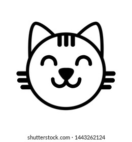 cat face icon illustration vector