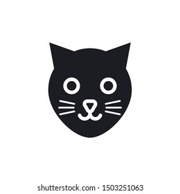 Cat Face Icon Vector Illustration Eps