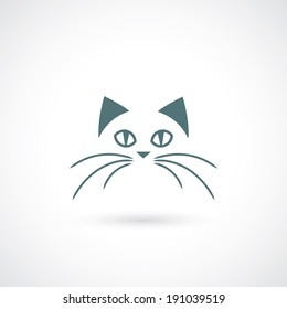 Cat face - vector illustration