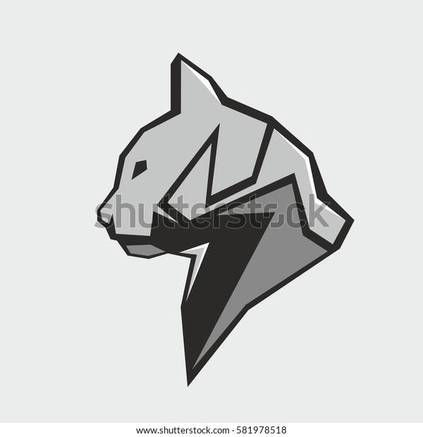 Cat face vector illustration