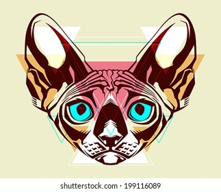 Cat. Fashion illustration