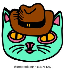 cat with fedora hat