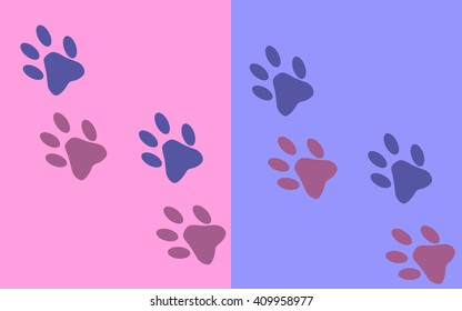 cat feet background abstract art vector pan tone