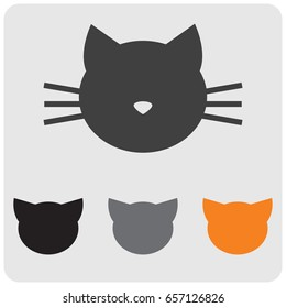 Cat head colored icons