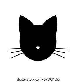 Cat head shape icon. Vector illustration