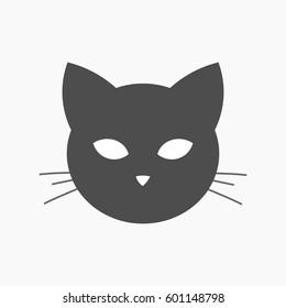 Cat head shape icon. Vector illustration