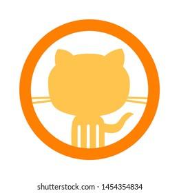 Cat icon. flat illustration of Cat. vector icon. Cat sign symbol