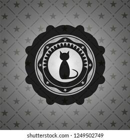 cat icon inside black emblem