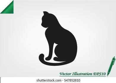 cat icon vector illustration.