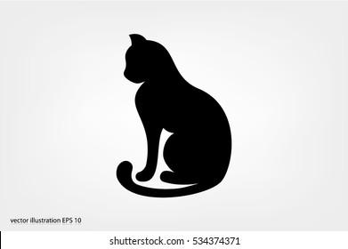 cat icon vector illustration EPS 10.