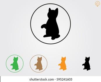 cat icon, vector illustration eps10