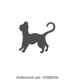 Cat icon vector illustration isolated on a white background