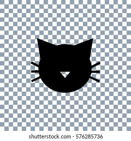 Cat icon vector on transparent background